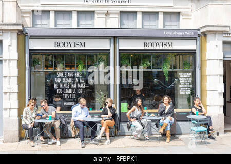 Bodyism cafe, Westbourne Grove, Bayswater, City of Westminster, Greater London, England, United Kingdom - Stock Image