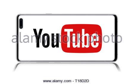 Youtube logo - Stock Image
