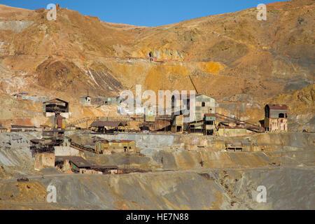 Silver mine on the Cerro Rico in Potosi - Stock Image