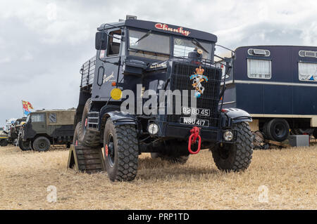 1954 Scammell Explorer Recovery on display at Dorset steam fair 2018 - Stock Image