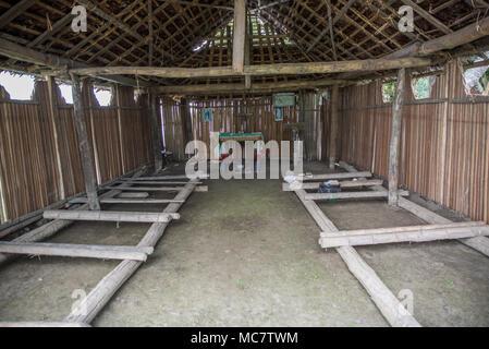 Interior of a basic Christian Church, Korogo Village, Middle Speik, Papua New Guinea - Stock Image