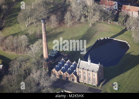 An aerial view of the Ryhope Engines Museum, Sunderland - Stock Image