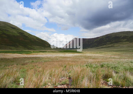 The marshland of Mosedale Beck below Mellbreak near Buttermere in the English Lake District, UK. - Stock Image