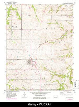 USGS TOPO Map Kansas KS Nortonville 801621 1960 24000 Restoration - Stock Image