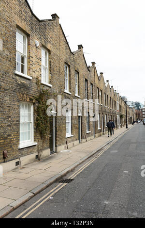 Georgian terraced housing on Roupell Street in Lambeth, London, UK - Stock Image