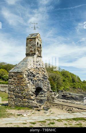 Cwm yr Eglwys Church Remains Pembrokeshire Coast - Stock Image