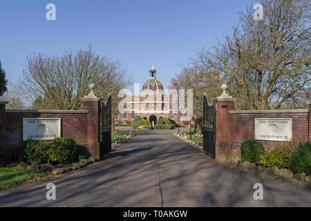The Counties Crematorium, Northampton, UK - Stock Image