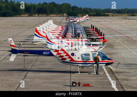 Krila oluje Wings of storm aerobatic group Croatia Croatian HRZ i PZO Zemunik - Stock Image