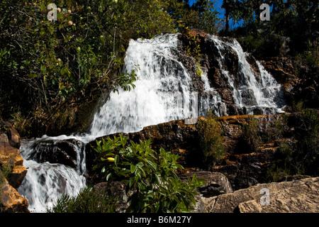 Cachoeiras Rio Cristal Chapada dos Veadeiros Veadeiros Tableland Goias Brazil - Stock Image