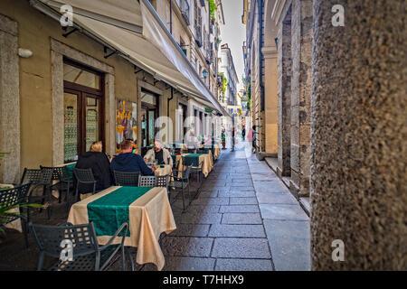 Italy Piedmont Turin Via Conte Verde - Stock Image