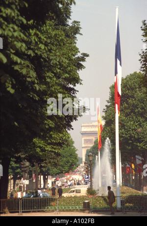 Arc D Triomphe Paris France - Stock Image