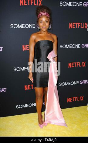 Los Angeles, CA, USA. 17th Apr, 2019. DeWanda Wise at arrivals for SOMEONE GREAT Premiere on NETFLIX, ArcLight Hollywood, Los Angeles, CA April 17, 2019. Credit: Elizabeth Goodenough/Everett Collection/Alamy Live News - Stock Image