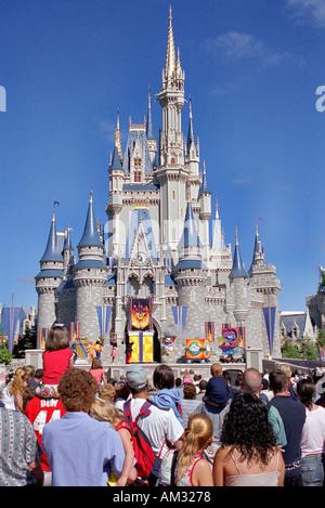 Disney Castle Magic Kingdom Disneyland Orlando Florida USA - Stock Image