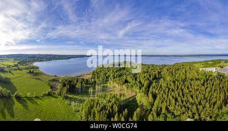 Landscape at Lake Starnberg, Bavaria, Germany - Stock Image