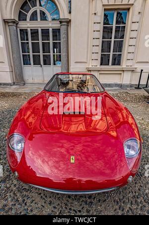 Piedmont Turin - Turin auto show 2019  - Valentino park - Valentino castle - Ferrari 250 Gt Drogo - Stock Image