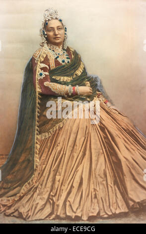 Hiranyagarbha Kumari was the senior wife of Maharaja Jang Bahadur, prime minister of Nepal (married 1853). - Stock Image