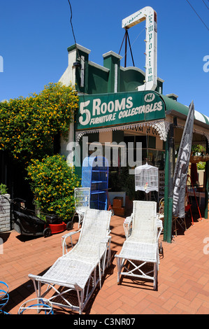 Second hand furniture shop, Guildford, Western Australia - Stock Image