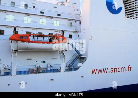 SNCM cruise ship, Marseille, Provence, France - Stock Image