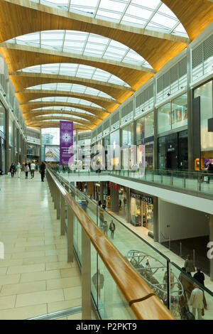 Inside the new Highcross Shopping Centre in Leicester City Centre, England, UK - Stock Image