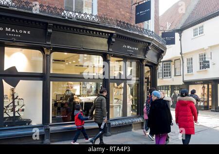 Jo Malone shop York North Yorkshire England UK United Kingdom GB Great Britain - Stock Image