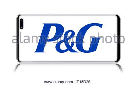Procter and Gamble logo - Stock Image