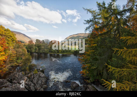 Scotland, Glen Lyon, autumnal landscape - Stock Image