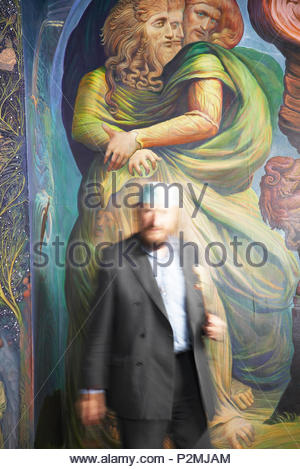 Since 1989 the Austrian artist Ernst Fuchs has been working on his colorful apocalypse in the Fuchs-Kapelle of the Stadthauptpfa - Stock Image