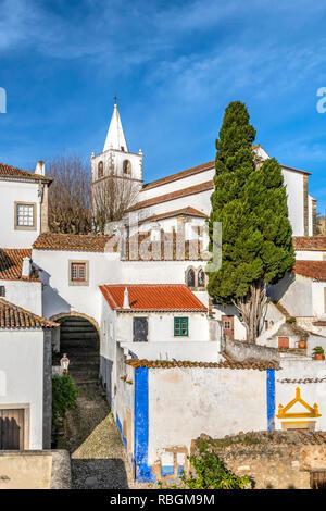 Church of Santa Maria, Obidos, Centro, Portugal - Stock Image