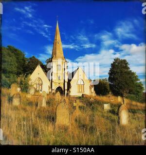 Graveyard in England - Stock Image