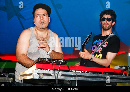 Chromeo live at Field Day festival in Victoria Park London. - Stock Image