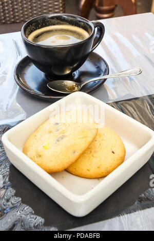 Coffee and biscuits - Stock Image