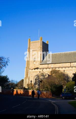 Saxon Cross Saint Bartholomews Church in Orford Suffolk England - Stock Image