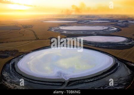 Salt Lakes of Damboring Nature Reserve, Western Australia - Stock Image