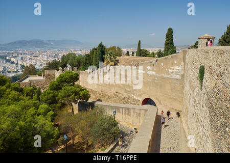 View from Castillo de Gibralfaro. Málaga, Andalusia, Spain. - Stock Image