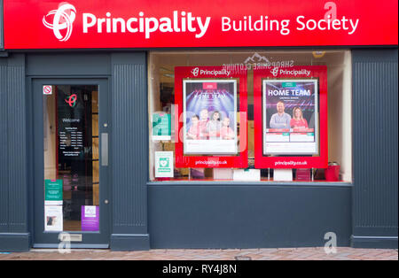 The Principality Building society welsh wales - Stock Image