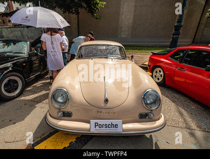 Turin, Piedmont, Italy. 22nd June 2019.Italy Piedmont Turin Valentino park Auto Show 2019 - Porche vintage car Credit: Realy Easy Star/Alamy Live News - Stock Image