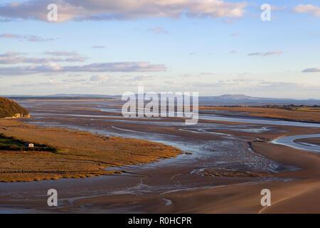 Taf Estuary, Laugharne, Carmarthenshire, West Wales, UK – - Stock Image