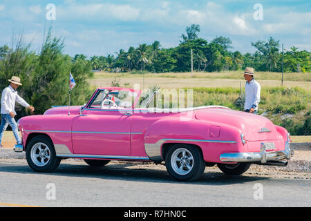 Beautifully maintained vintage american car in Havana Cuba. - Stock Image