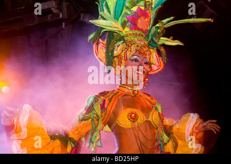 Cuba Havana Dancer at Tropicana nightclub Photo CUBA0497 Photo copyright Christopher P Baker - Stock Image
