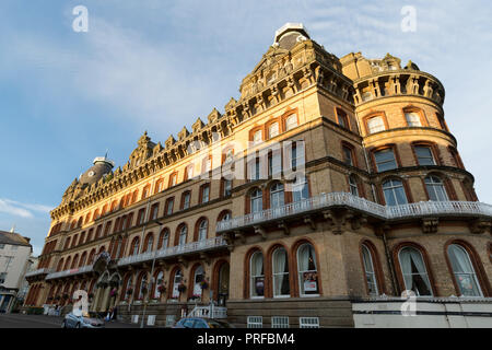 The Grand Hotel, Scarborough,an ornately decorated Victorian buildingl built on St Nicholas Cliff in1863. unsharpened - Stock Image
