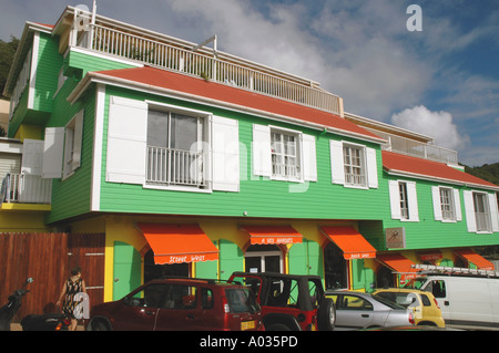 Saint Barth St Barts downtown shopping traditional French building - Stock Image