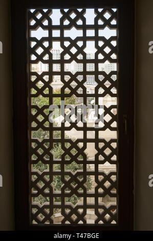 Azerbaijan, Baku, Old City (Icari Seher),  Palace of the Shirvanshahs, 15th c, window detail - Stock Image