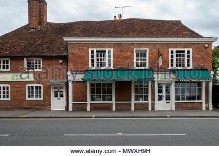 Exteriof of Guitar Village, an established musical instrument retailer in Farnham, Surrey UK - Stock Image