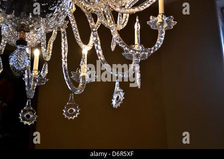 Original Georgian chandelier crystals - Stock Image