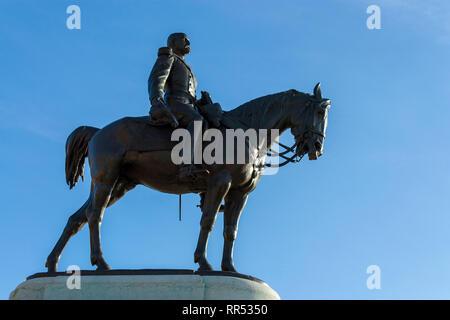 Statue of Henri d'Orléans, Duke of Aumale (1822-1897) by Jean-Léon Gérôme at Chantilly, Oise, France - Stock Image