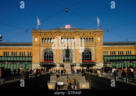Germany, Hannover, central station, glass front, Hauptbahnhof - Stock Image