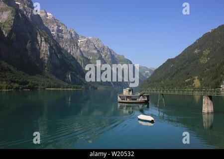 Summer morning at Lake Kloental, Switzerland. - Stock Image