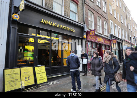 Jamaica Patty Co. Covent Garden, London, England, UK - Stock Image