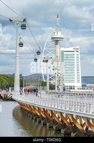 At the Lisboa promenade - Stock Image