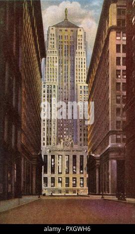 Chicago, Illinois, USA - Board of Trade Building.     Date: circa 1942 - Stock Image